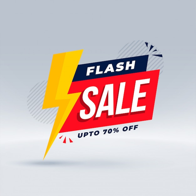 Flash sale modern banner promotional template Free Vector
