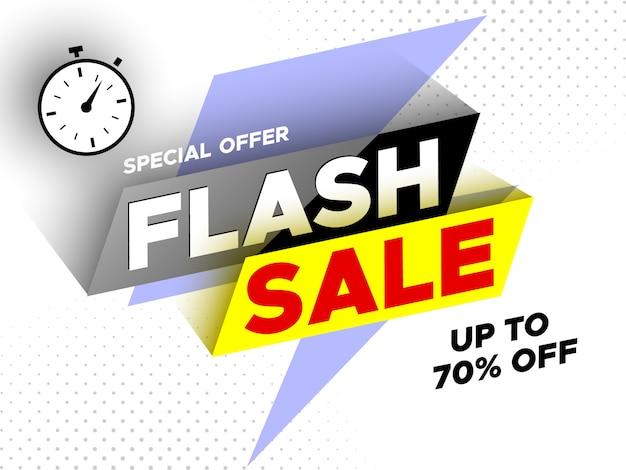 Flash sale . Premium Vector
