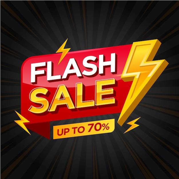 Шаблон баннеров flash sale Premium векторы