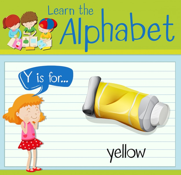 Flashcard alphabet y is for yellow vector premium download flashcard alphabet y is for yellow premium vector altavistaventures Images