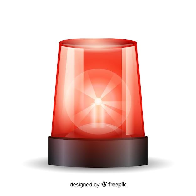 Flashing red siren Free Vector