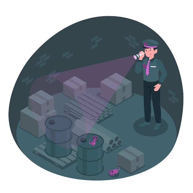 Flashlight concept illustration Free Vector