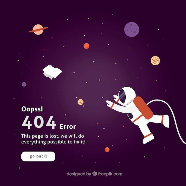 Flat 404 error template Free Vector