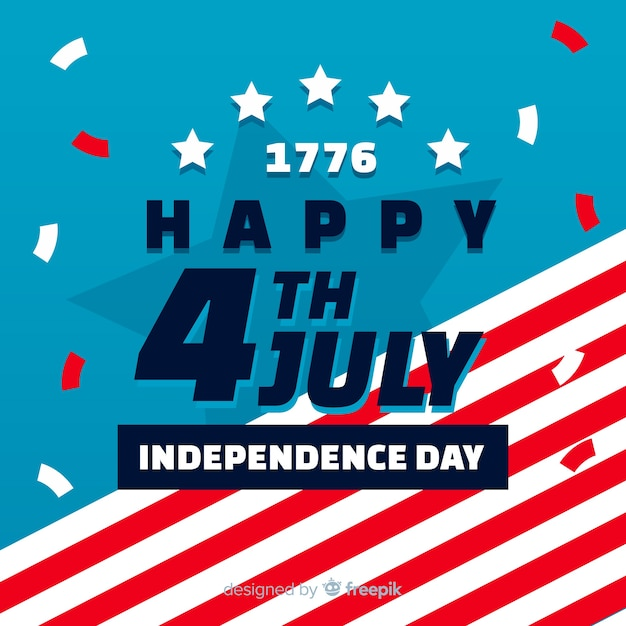 Flat 4th of july banners Free Vector