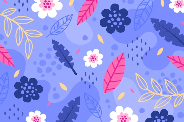 Flat abstract floral background Free Vector