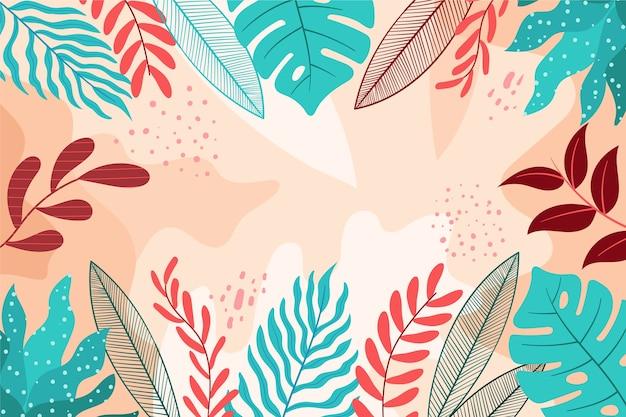Плоская абстрактная цветочная заставка Бесплатные векторы