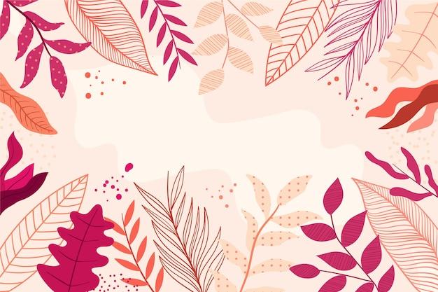 Плоские абстрактные цветочные обои Бесплатные векторы