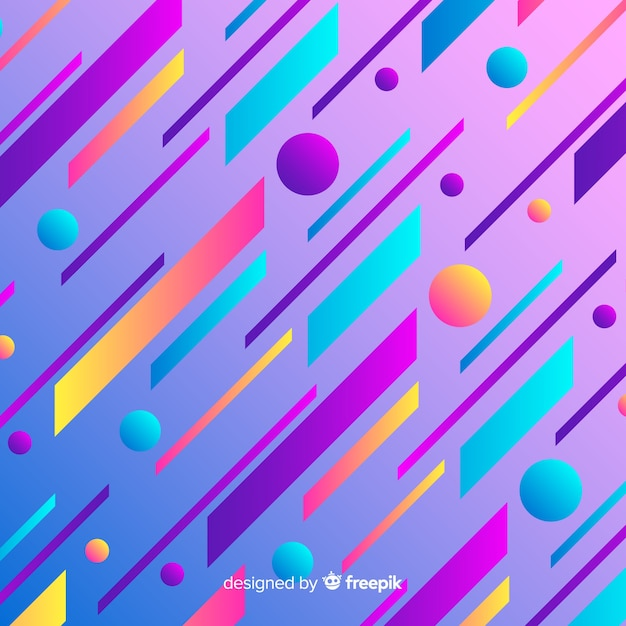 Flat abstract gradient dynamic background Free Vector