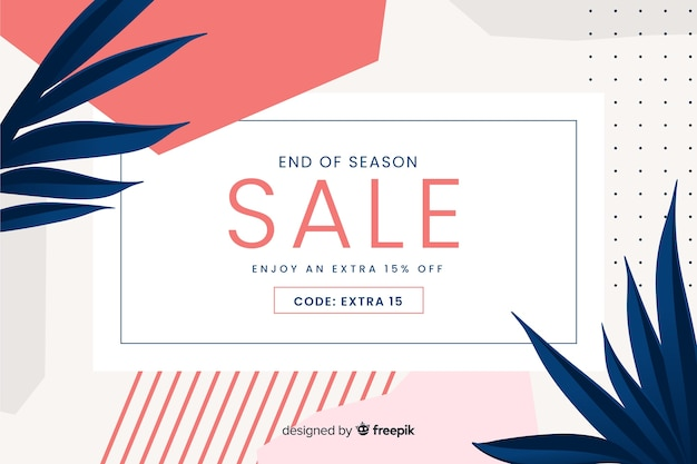 Flat abstract minimalist sale background Free Vector