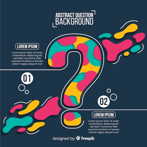 Flat abstract question background template Free Vector