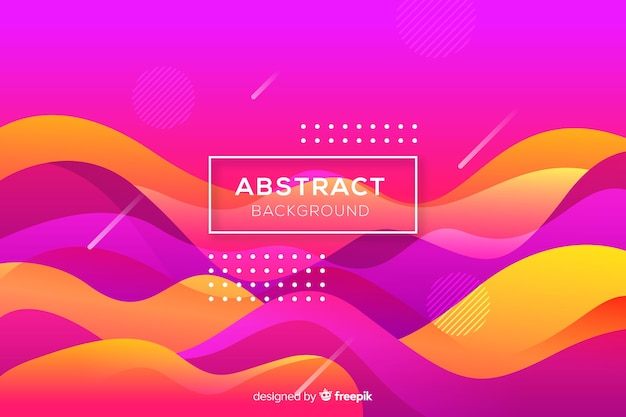 Flat abstract rounded shape background Free Vector