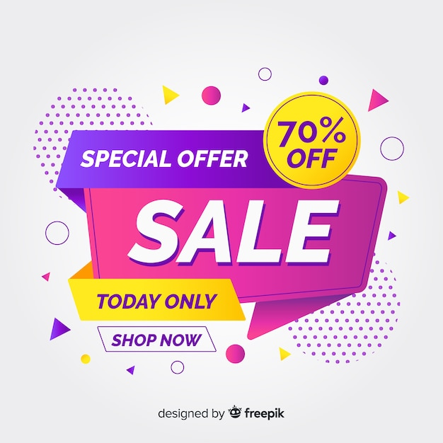 Flat abstract special sales background Free Vector