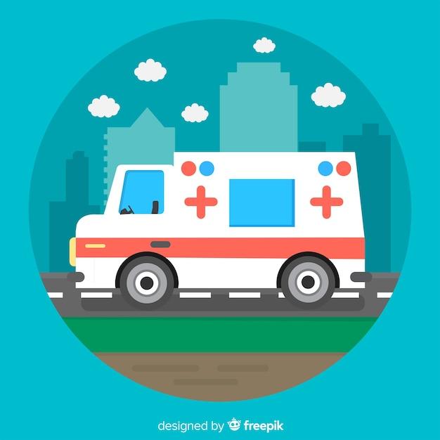Flat ambulance concept Free Vector