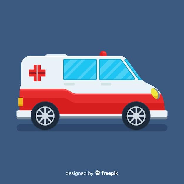 Flat ambulance Free Vector