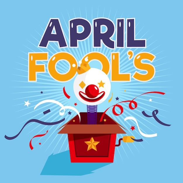 Фон плоских апреля дураков Бесплатные векторы