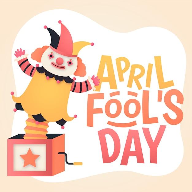 Flat april fools day concept Free Vector