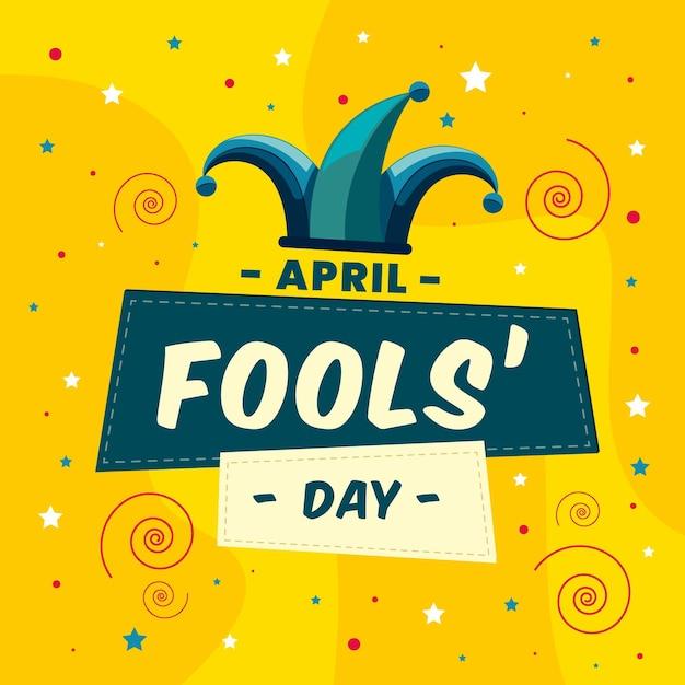 Flat april fools' day illustration Free Vector