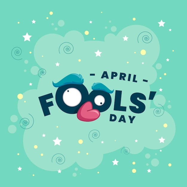 Flat april fools' day illustration Free Vector