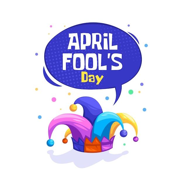 Flat april fools day Free Vector