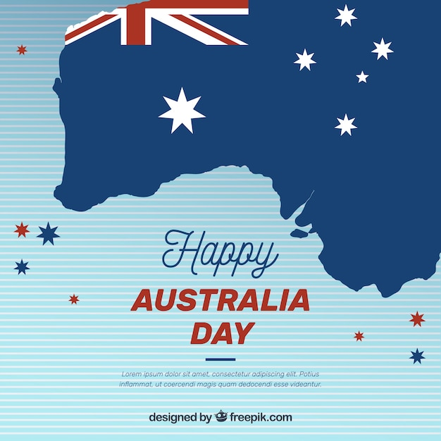 Flat australia day background Free Vector