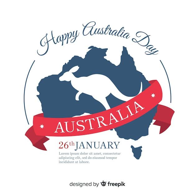 Плоский австралийский день фон Бесплатные векторы