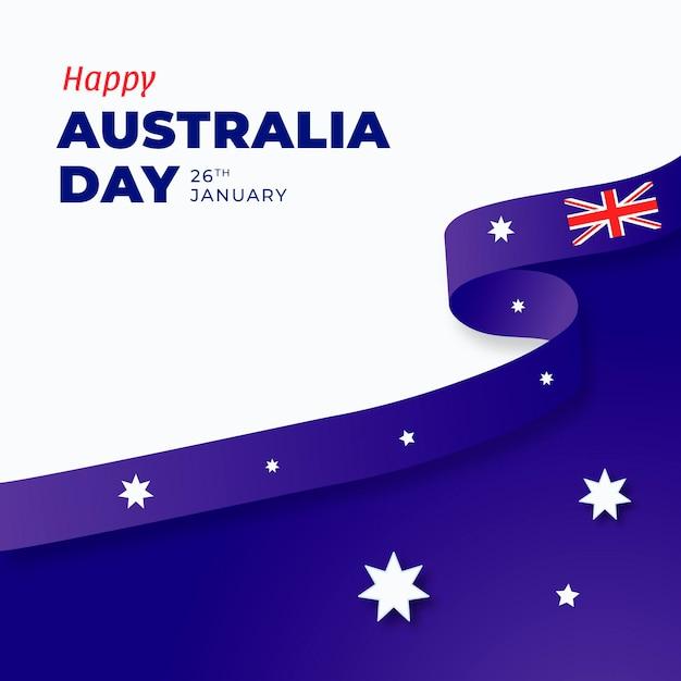 Плоский день австралии Бесплатные векторы