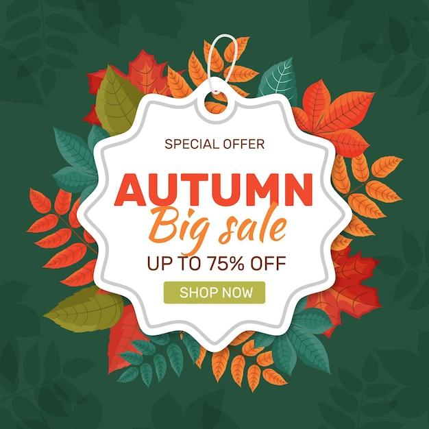 Flat autumn sale concept Free Vector