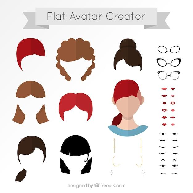 Flat Avatar Creator Vector Premium Download