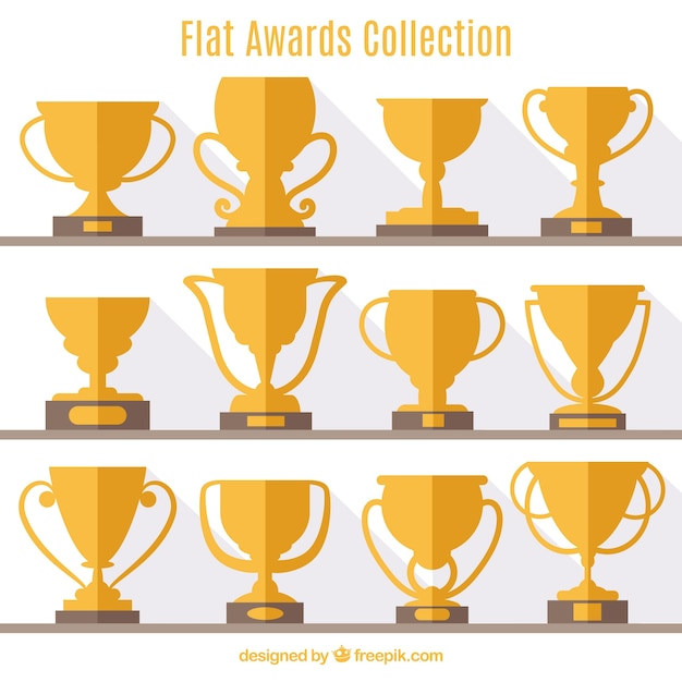 Flat award collection Free Vector