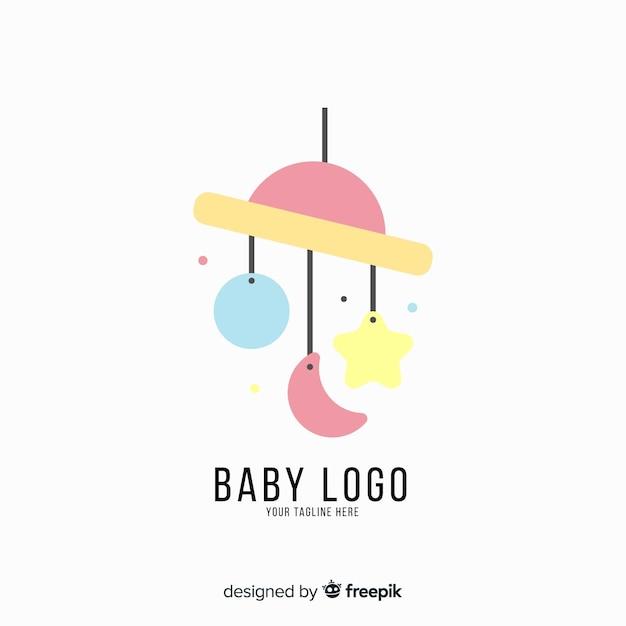 Flat baby logo Free Vector