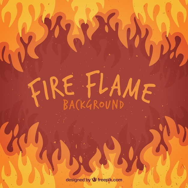 Flat background of flames in different colors Free Vector