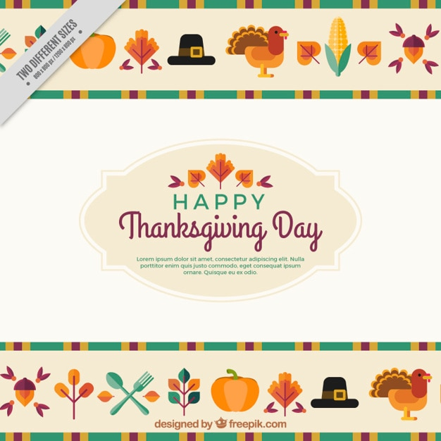 Flat background for thanksgiving Free Vector