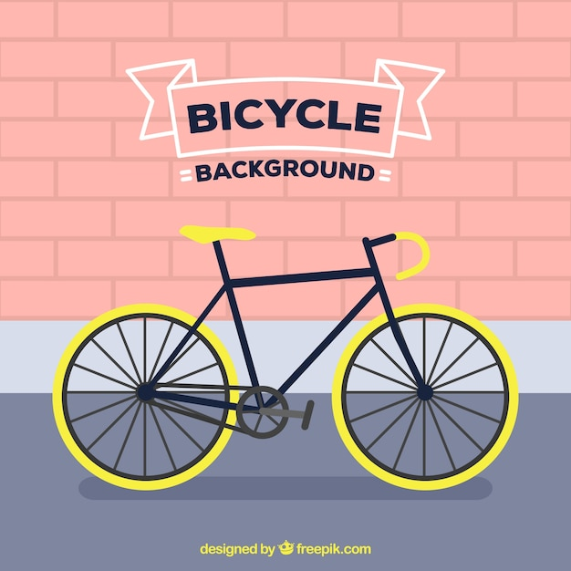 Flat background with professional bike Free Vector