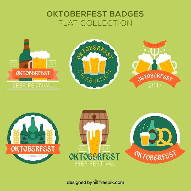 Flat badges for oktoberfest