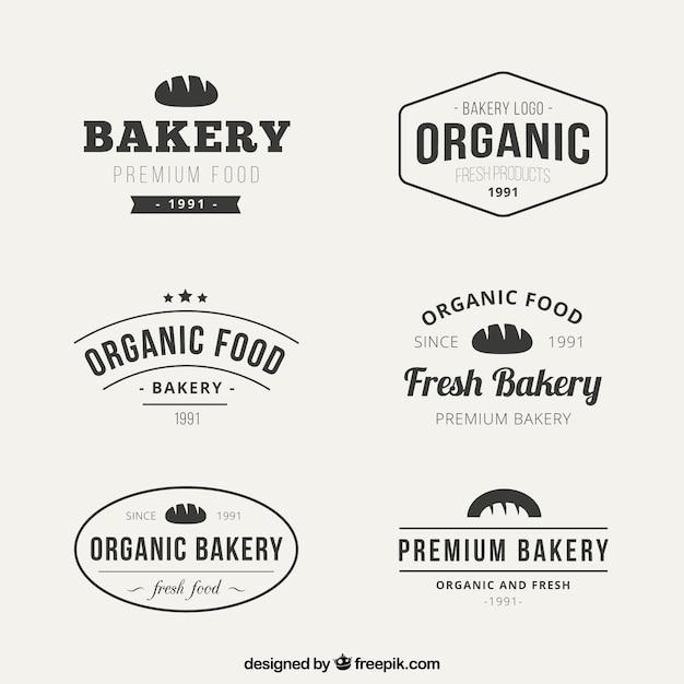 Flat Bakery Logo Collection Premium Vector