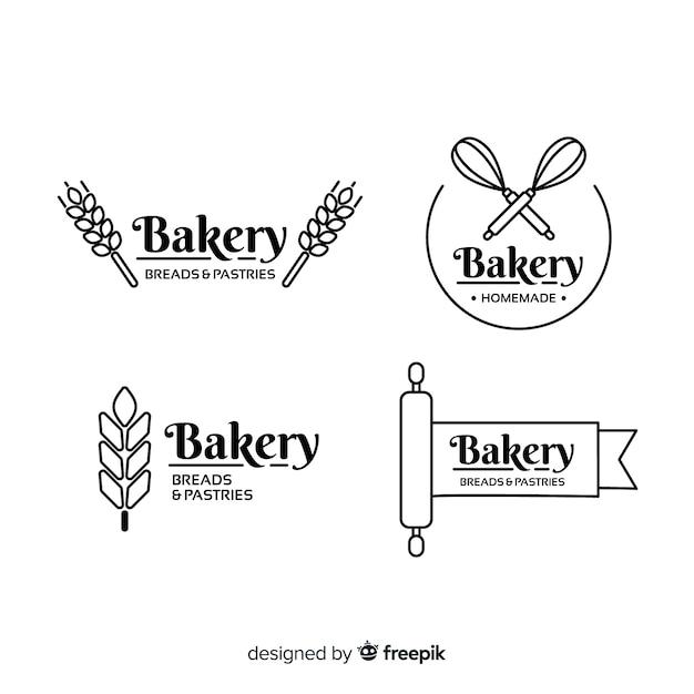 Flat bakery logo template Premium Vector