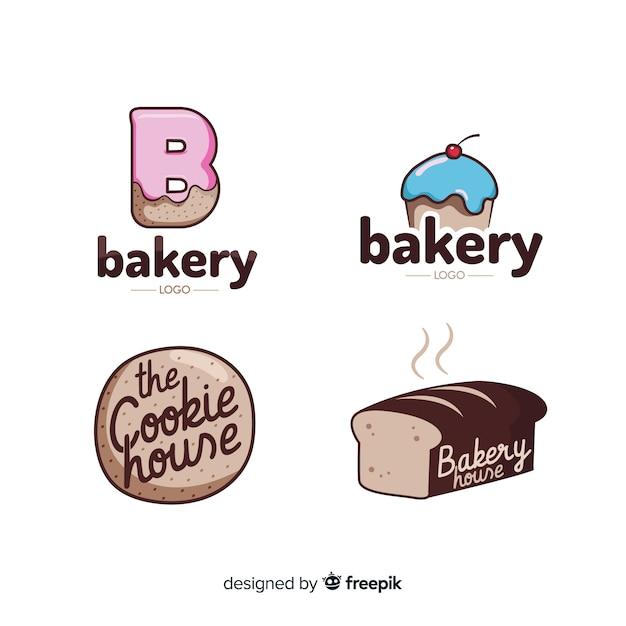 Flat bakery logo template Free Vector