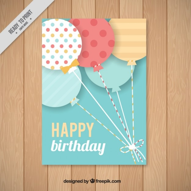 Flat balloon birthday card vector free download flat balloon birthday card free vector bookmarktalkfo Image collections
