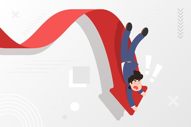 Flat bankruptcy concept Free Vector