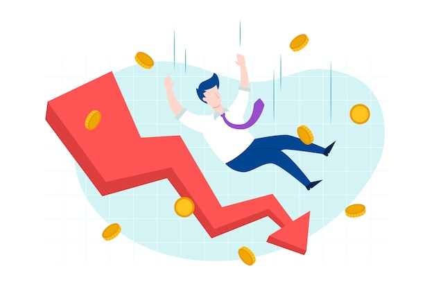 Flat bankruptcy crisis concept Free Vector taken from Freepik
