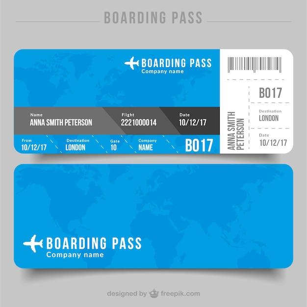 Flat Boarding Pass With Details In Gray Tones Vector Premium Download