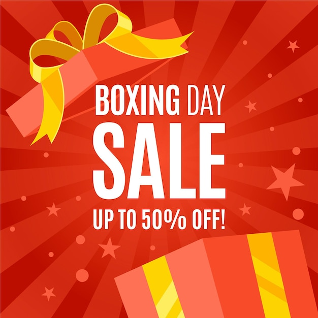 Flat boxing day sale Free Vector