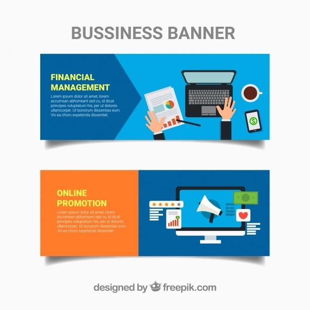 Flat business banner set
