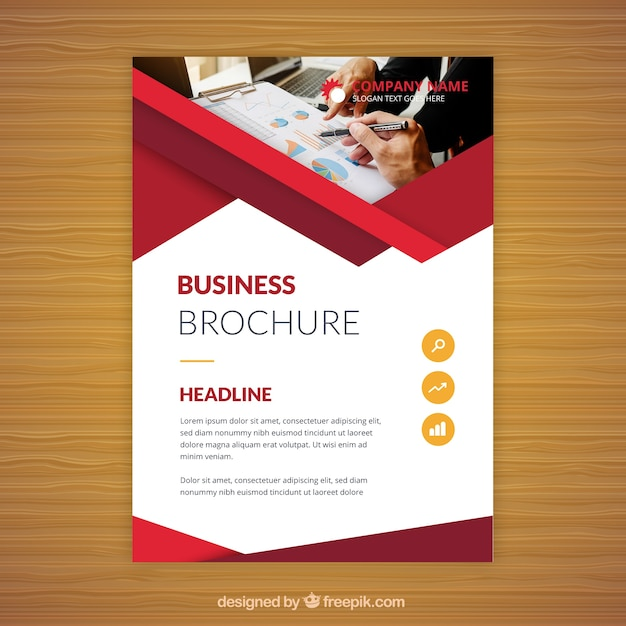 flat business brochure in a5 size vector