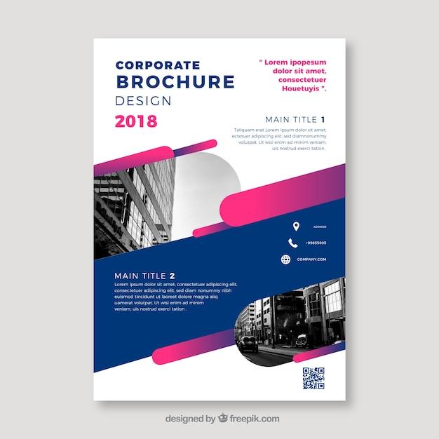 Brochure aziendale piatta in formato a5 Vettore gratuito