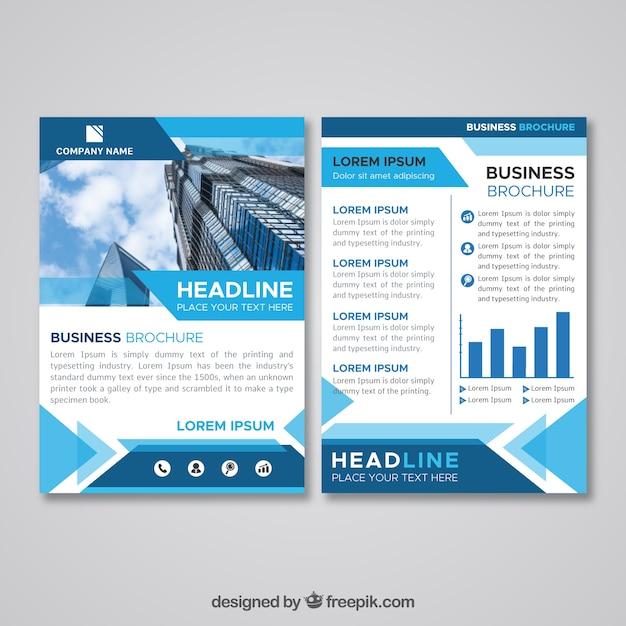 Плоская бизнес-брошюра размером a5 Бесплатные векторы