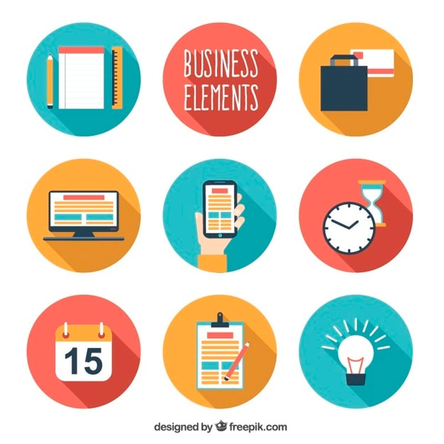 Flat business elements pack