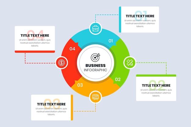 Infografica aziendale piatta Vettore gratuito