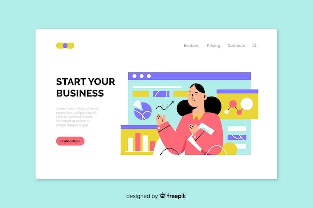 Шаблон бизнес-страницы Бесплатные векторы