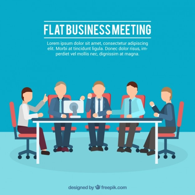 Flat business meeting illustration Vector | Free Download